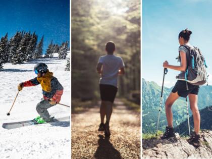 Skifahren Jogging Wandern Merino